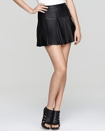 Ashleys leather skirt at Bloomingdales