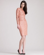 Ashleys pink leather dress by The Row at Bergdorf Goodman