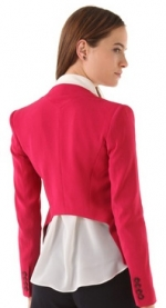 Ashleys red blazer at Shopbop