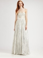 Ashley's silver gown at Saks Fifth Avenue