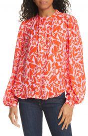 Ashlynn Graphic Silk Blend Blouse by Veronica Beard at Nordstrom