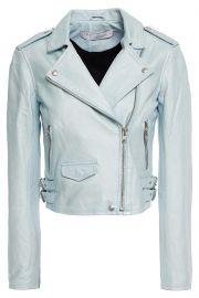 Ashville cropped washed-leather biker jacket at The Outnet