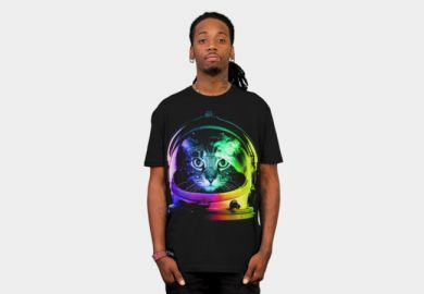 Astronaut cat tee at Design by Humans
