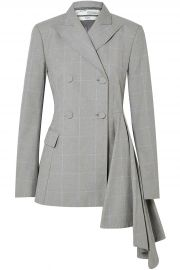 Asymmetric Checked Cotton Blazer by Off-White  at The Outnet