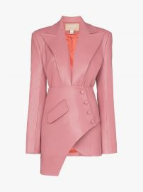 Asymmetric Faux Leather Blazer by Materiel at Ssense