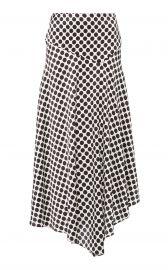 Asymmetric Polka-Dot Silk-Blend Skirt at Moda Operandi