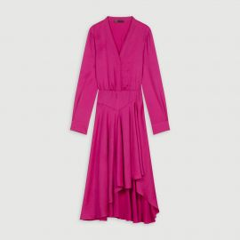 Asymmetric Satin Dress by Maje at Maje