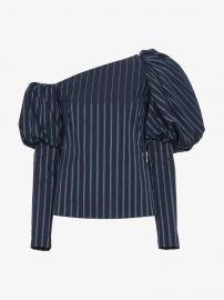Asymmetric Striped Cotton Top at Browns Fashion