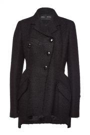 Asymmetric Tweed Blazer at Style Bop