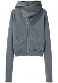 Asymmetric hoodie by Rick Owens at La Garconne