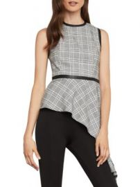 Asymmetric houndstooth drape top at Saks Off 5th