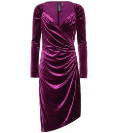 Asymmetric velvet dress at Mytheresa