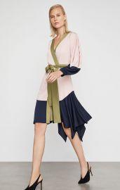 Asymmetrical Colorblocked Wrap Dress at Bcbgmaxazria