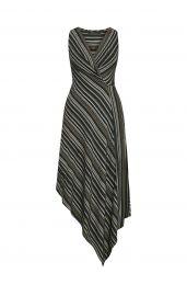 Asymmetrical Faux-Wrap Dress at Bcbg