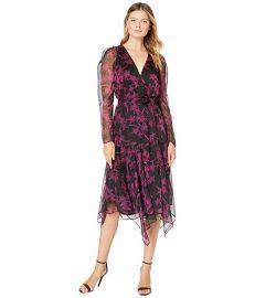 Asymmetrical Hem Wrap Front Dress at Zappos