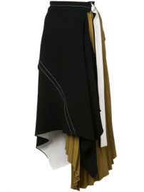 Asymmetrical Layered Belted Skirt at Farfetch