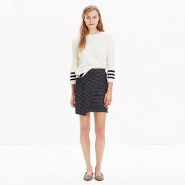 Asymmetrical Mini Skirt in Pinstripe at Madewell