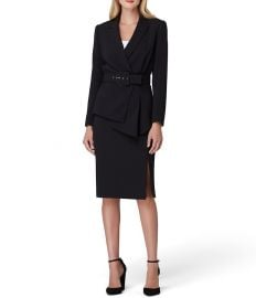 Asymmetrical belted skirt suit at Dillards