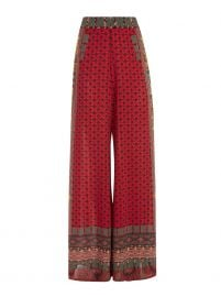 Athena Pattern Mix Wide Leg Pants by Alice  Olivia at Alice and Olivia