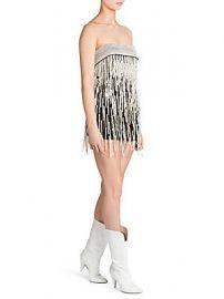 Attico - Strapless Pearl-Embellished Mini Dress at Saks Fifth Avenue