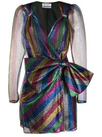 Attico Striped Wrap Mini Dress - Farfetch at Farfetch