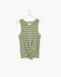 Audio Knot-Front Tank Top in Stripe at Madewell