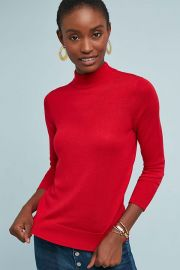 Audrey Mock Neck Knit Pullover at Anthropologie