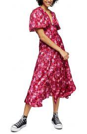 Aurelia Floral Print Midi Dress at Nordstrom