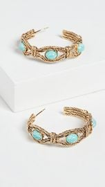 Aurelie Bidermann Mizuhiki Earrings Dipped Amazonite Stones at Shopbop