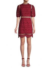 Avantlook - Lace Cotton Blend A-Line Dress at Saks Off 5th