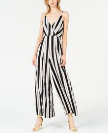 Avec Les Filles Sleeveless Striped Jumpsuit    Reviews - Dresses - Women - Macy s at Macys