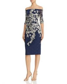 Avery G Embroidered-Lace Midi Dress Women - Bloomingdale s at Bloomingdales