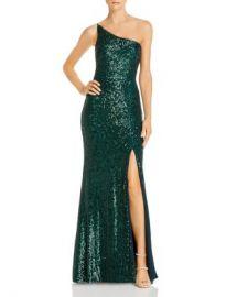 Avery G One-Shoulder Sequin Gown Women - Bloomingdale s at Bloomingdales