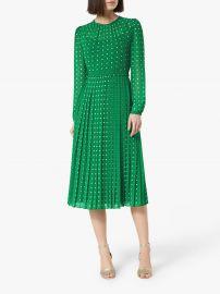 Avery Green Polka Dot Midi Dress by LK Bennett at LK Bennett