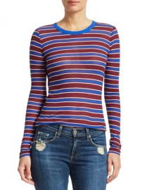 Avery Striped Cashmere-Blend Shirt at Saks Off Fifth