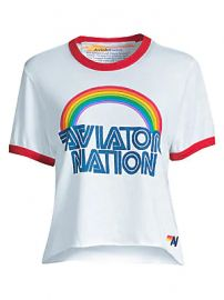 Aviator Nation - Mountain Wave Boyfriend Tee at Saks Fifth Avenue