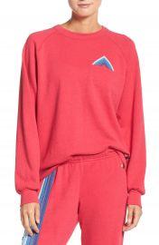 Aviator Nation Mountain Stripe Crewneck Sweatshirt at Nordstrom