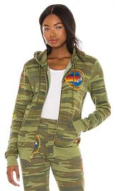 Aviator Nation Zip Hoodie in Camo from Revolve com at Revolve