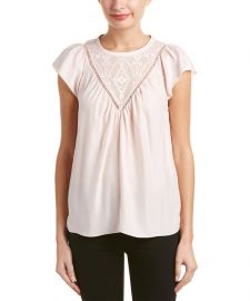 Aztec Embroidered Silk Top by Rebecca Taylor at Bluefly