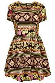 Aztec Jacquard Flippy Dress at Topshop