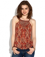 Aztec Macrame Tank by Lucky Brand at Lucky Brand