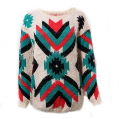 Aztec mohair sweater at eBay