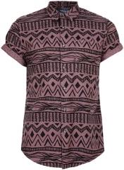 Aztec printed shirt at Topman