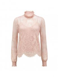 Azura lace shirred neck top at Ever New