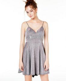 B Darlin Juniors  Metallic Fit   Flare Dress   Reviews - Dresses - Juniors - Macy s at Macys