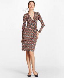 B Print Jersey Faux Wrap Dress at Brooks Brothers
