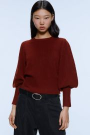 BALLOON SLEEVE SWEATER at Zara