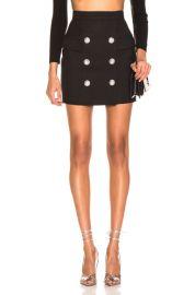 BALMAIN High Waist Skirt in Noir   FWRD at Forward