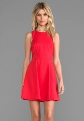 BARDOT Nolan Skate Dress in Red at Revolve