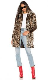 BB Dakota Bradshaw Faux Fur Coat in Brown from Revolve com at Revolve